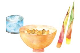 サバ缶とタケノコの味噌汁イメージ