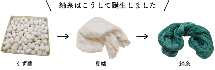 紬糸はこうして誕生しました