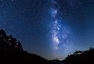 阿智村星空画像