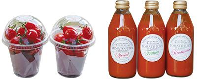 トマト詰め合わせとトマトジュース