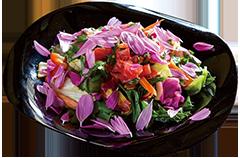 オーガニック野菜の彩り山盛りサラダ画像