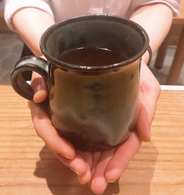 松代焼のコーヒーカップ