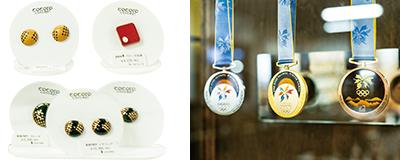 「cocoro concept」の商品と長野冬季オリンピックメダル