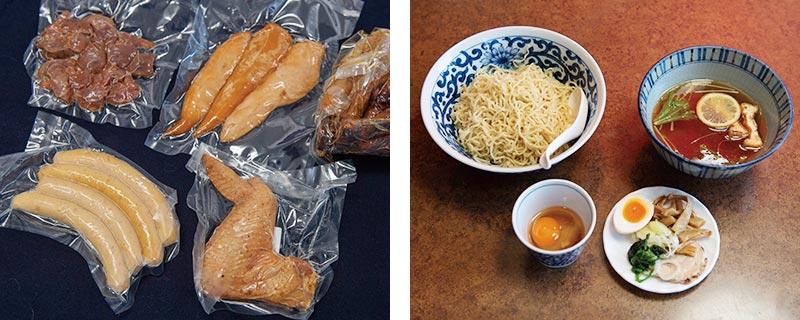 加工品と真田丸地鶏つけ麺