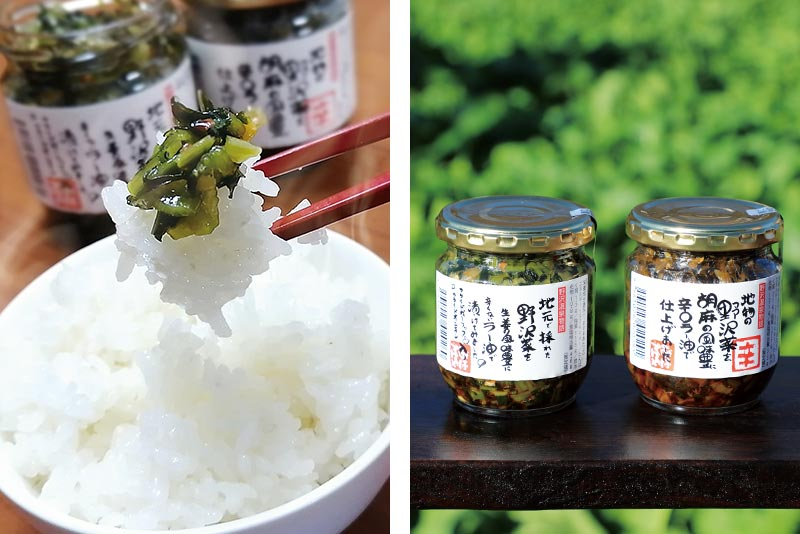「野沢菜ラー油」と「辛口ラー油」