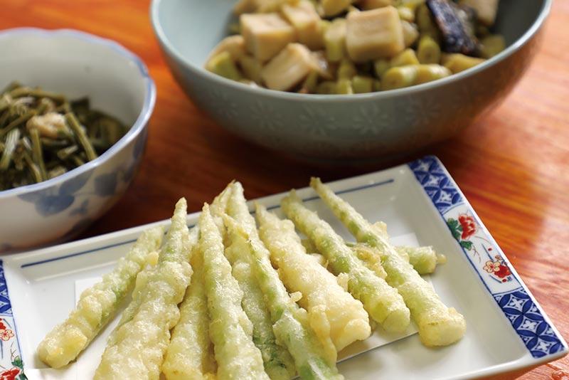 根曲り竹料理