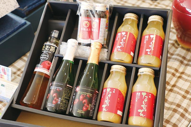 立科町産りんごを用いたさまざまな商品